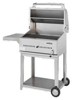 Stainless steel charcoal barbecue grills