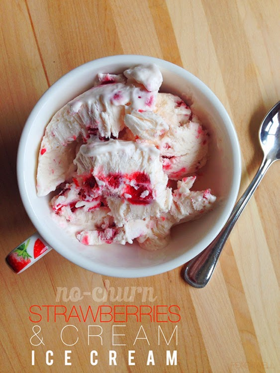 NO-CHURN STRAWBERRIES & CREAM ICE CREAM