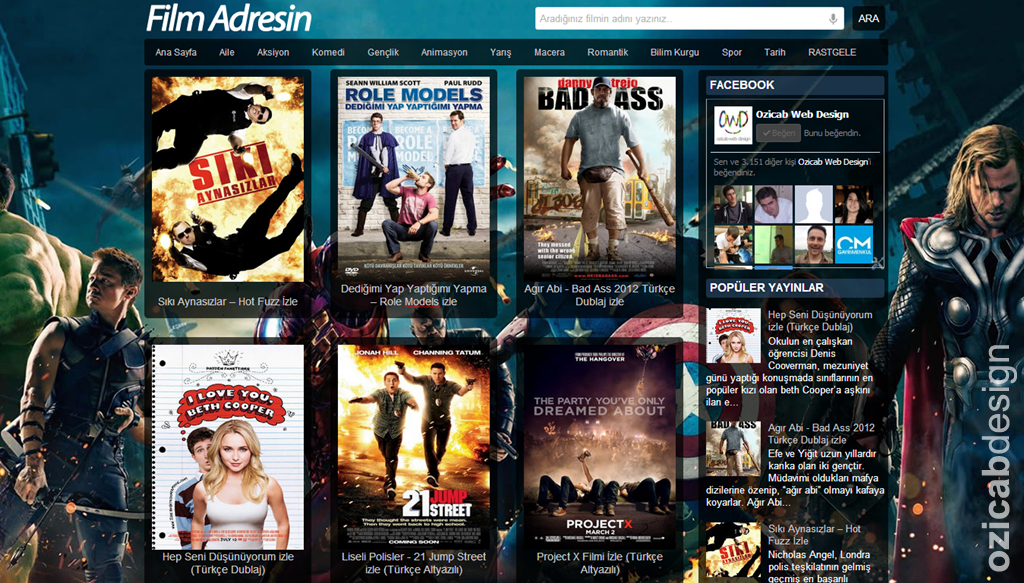 Fozilm Blogger Film Teması