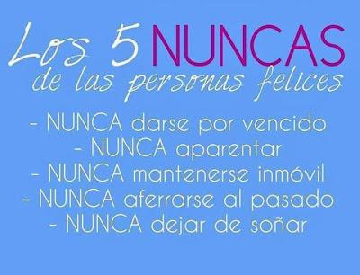 Los 5 NUNCAS de las personas felices