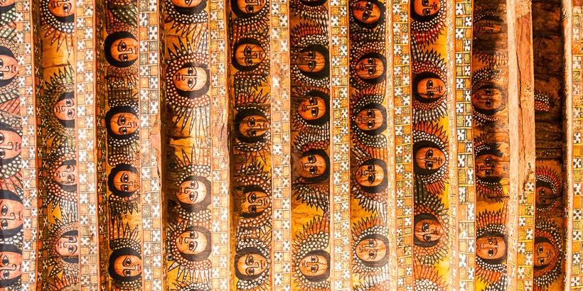 Debre Berhan Szelasszié-templom. Gonder, Etiópia.