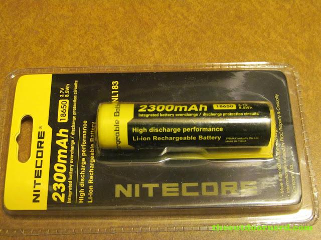 Nitecore 2300 mAh 18650 li-ion battery