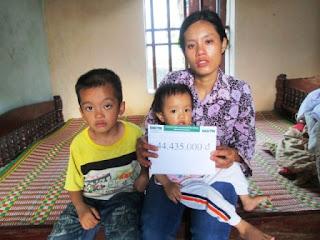 Gần 45 triệu đồng đến với người mẹ có hai con mắc bệnh hiểm nghèo