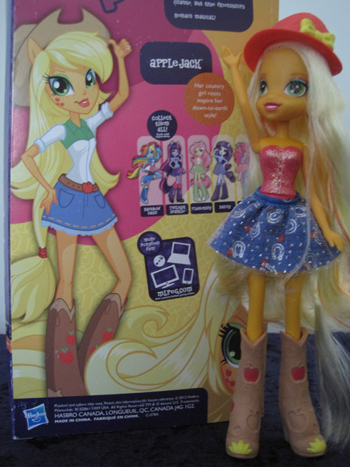MLP: Equestria Girls Applejack basic doll with box.