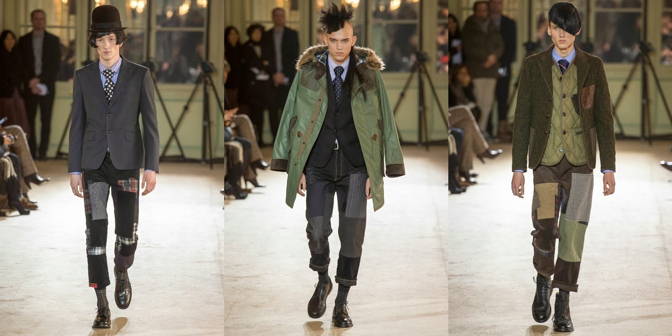 Junya Watanabe, Paris Fashion Week, Fall Winter, otoño invierno, 2014, british style,