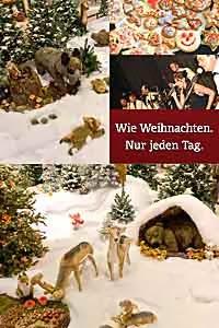 Weihnachten Winterwald der Stofftiere + Aktionen im OEZ bis 24.12.2013