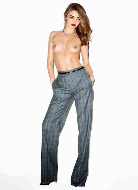 miranda kerr completely nude breasts