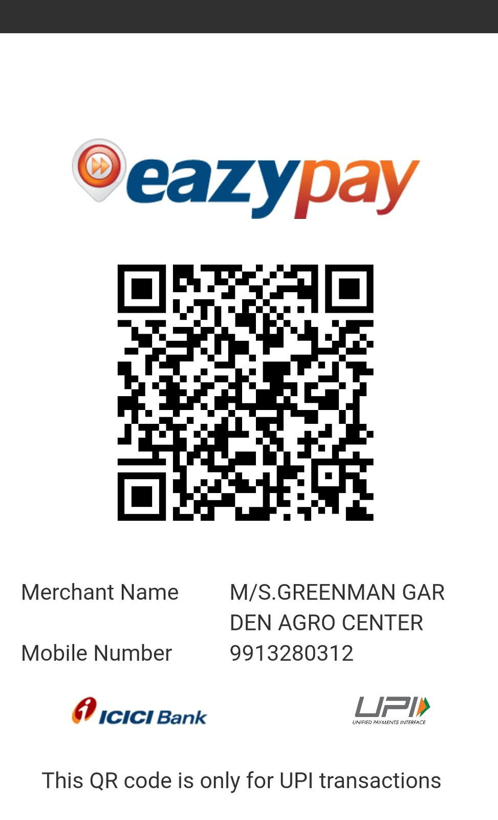 eazypay Accepted Here