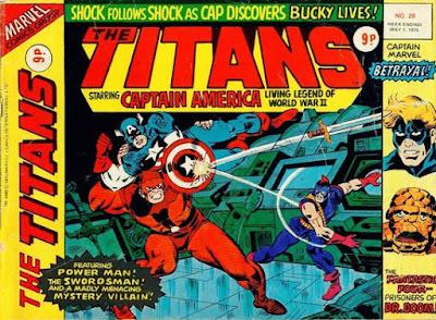 Marvel UK, the Titans #28, Captain America