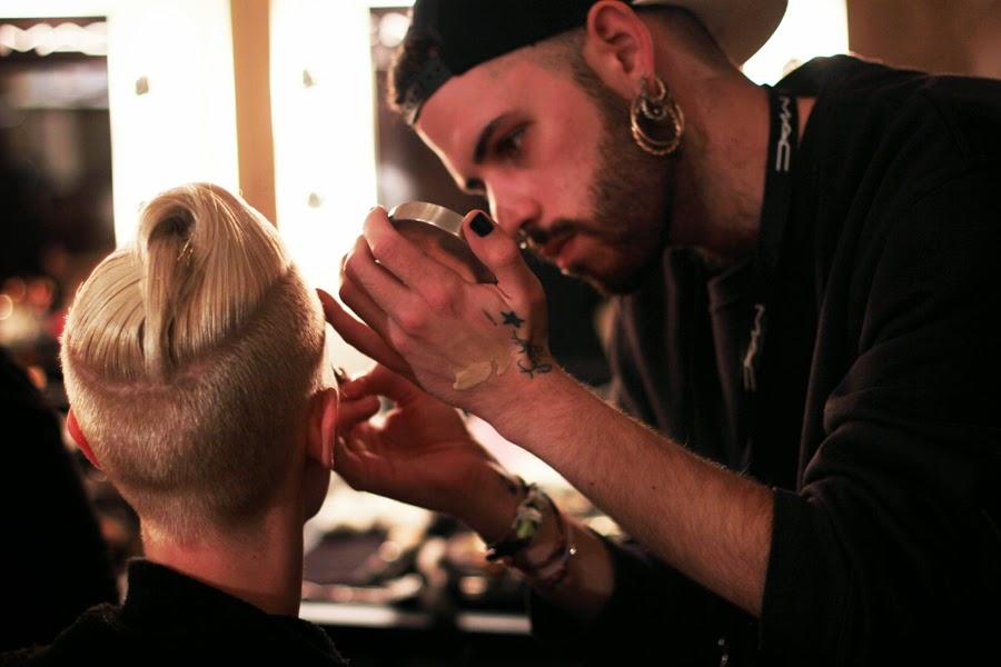 berlin fashion week augustin teboul backstage creativ work stylist mac wella sebastian professional styling models runway