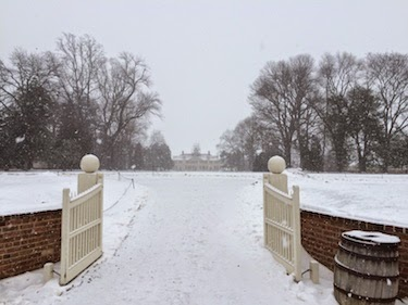 Chuck and Lori's Travel Blog - George Washington's Mount Vernon With Snow