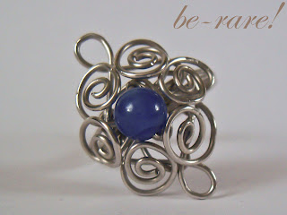 pierścionek wire wrapping przód