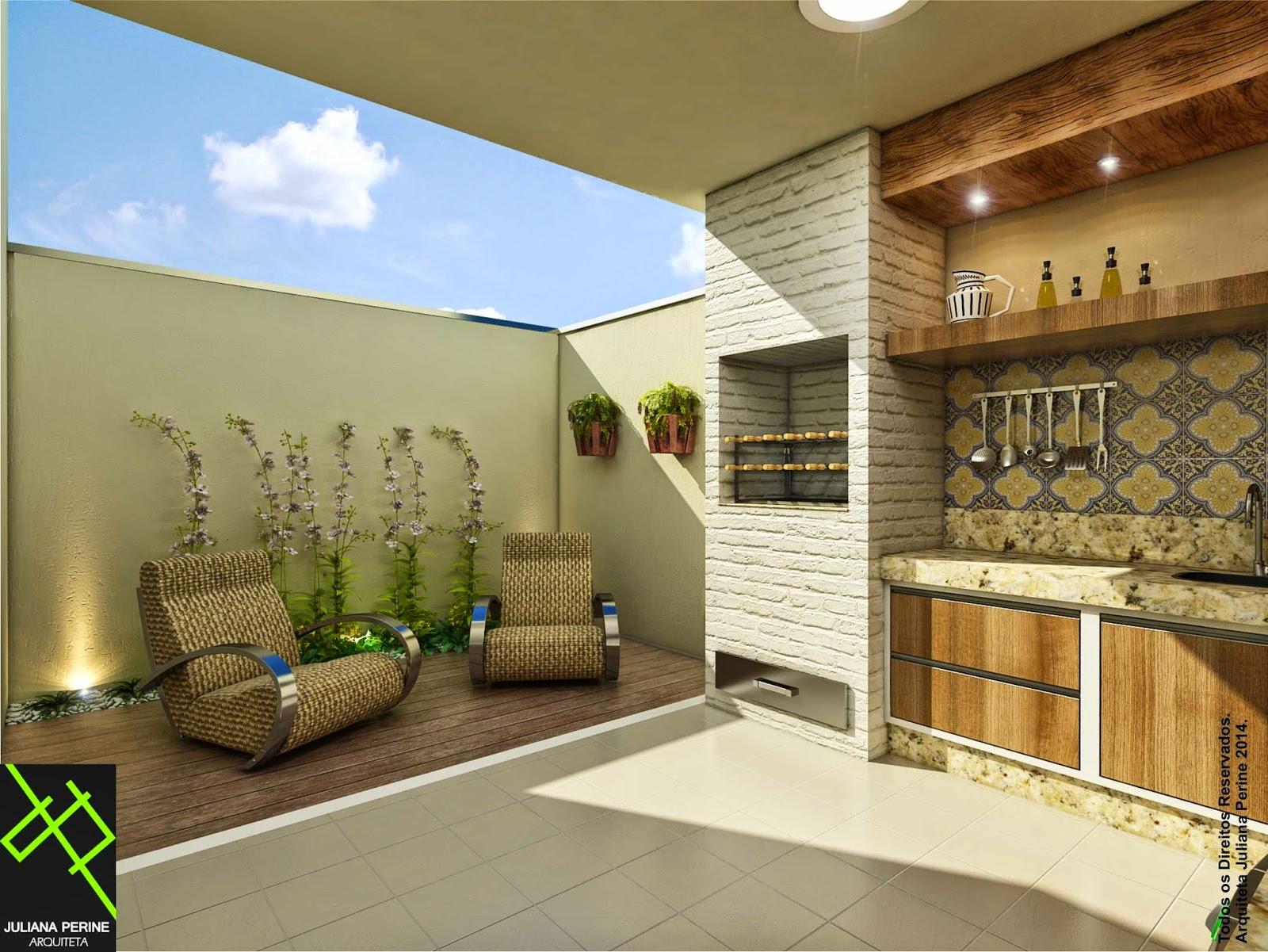 Juliana Perine : Projeto de acabamento e decoração de Área de  #2367A8 1600 1201