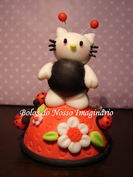 Topo de Bolo de Aniversrio Hello Kitty