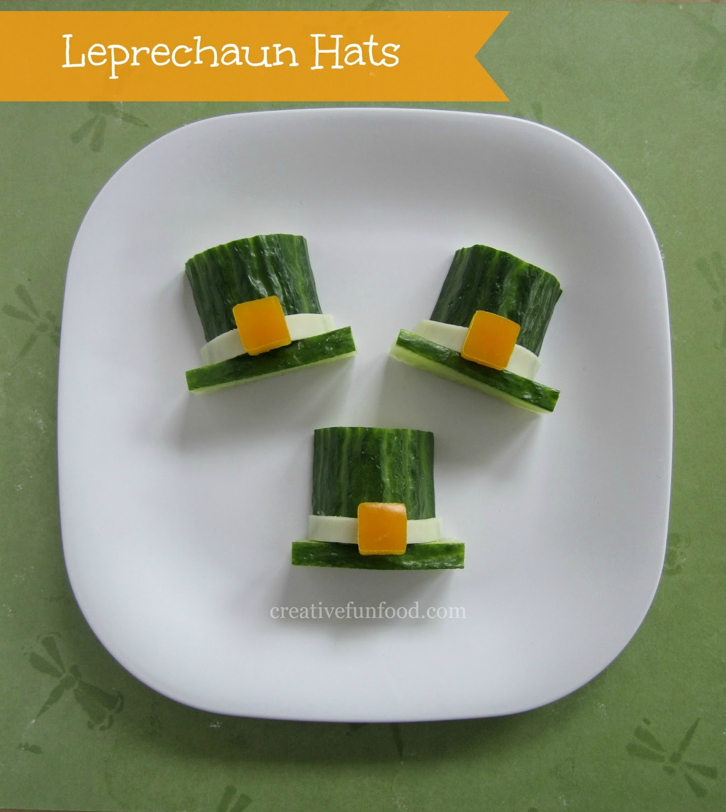 creative food leprechaun hats