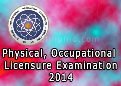 August 2014 Physical, Occupational Therapists Board Exam Results
