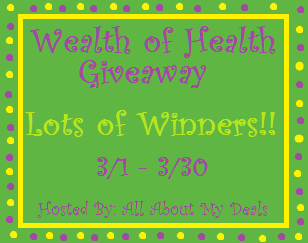 WOH+banner Wealth of Health   Goin Green Giveaway! (March 7th   April 7th)