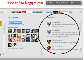 Widget Recent Comments Gravatar/Gambar Pada Blogger