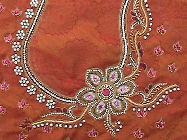 Bridal Embroidery Blouse Designs 25