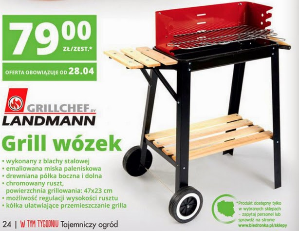 Grill wózek GRILLCHEF BY LANDMANN z Biedronki