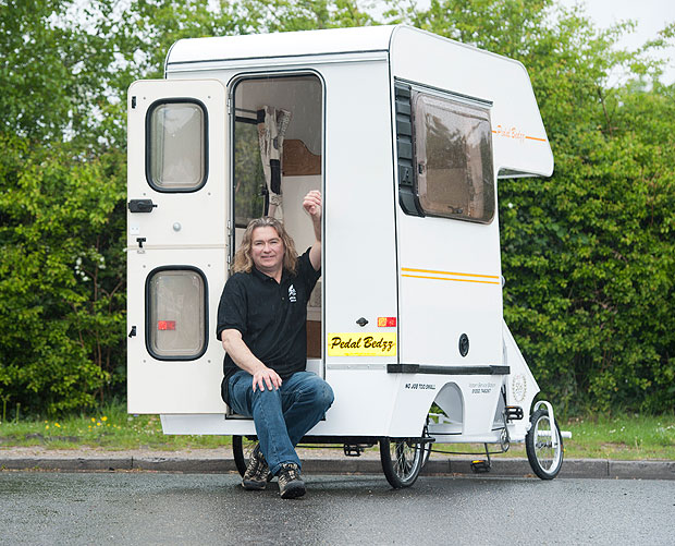 Madcap mechanic has built the world s smallest campervan with a
