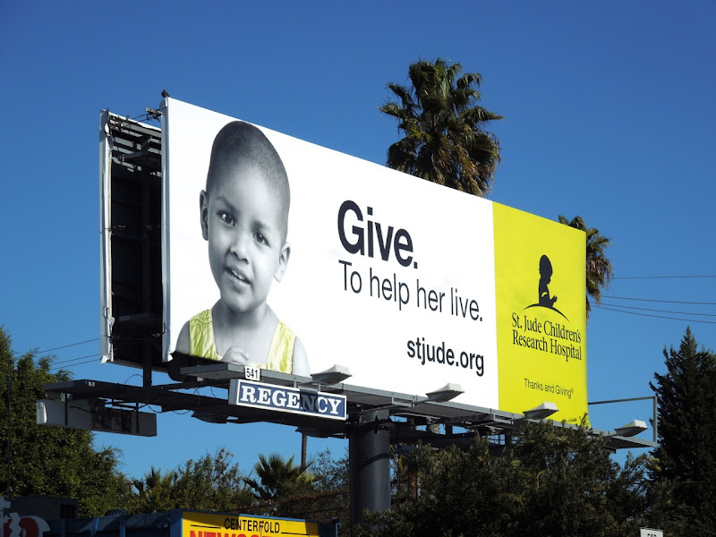 St Jude Childrens Research Hospital give billboard