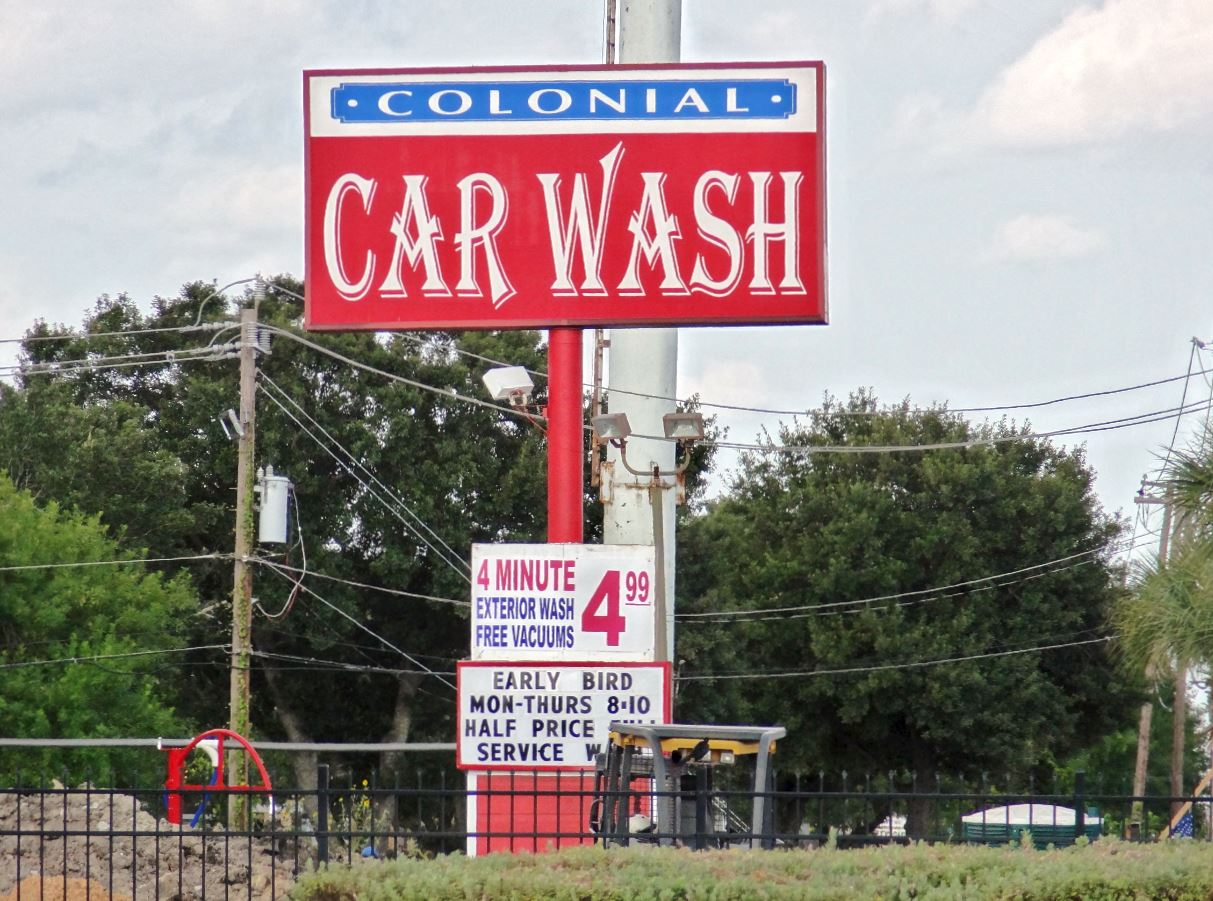 Adjoining to the east colonial car wash