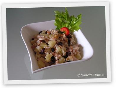 Sałatka ryżowa z kurczakiem i ananasem - mój sałatkowy hit