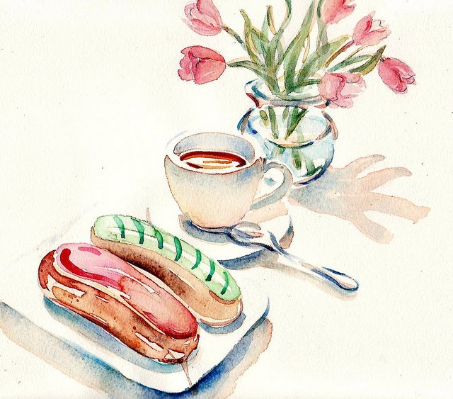 French Pastry Drawing L'eclair Ordinaire is a Staple