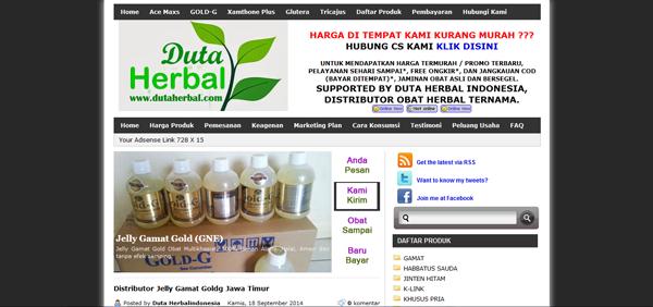 Dutaherbal.com Distributor Obat Herbal Terpercaya