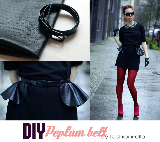 DIY peplum belt by Xenia Kuhn for fashionrolla.com