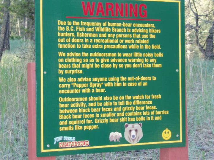 warning for geocachers