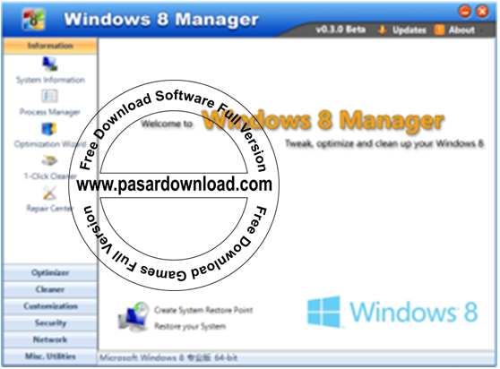 Download Windows 8 Manager 2.0.8 Full Version
