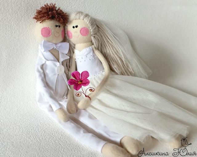 Куклы на свадьбу жених и невеста