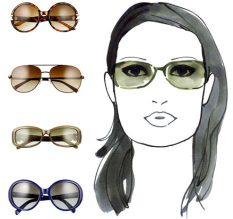Sunglasses Shape For Square Face : give me glamour please: How to Choose Eyeglasses Based on ...
