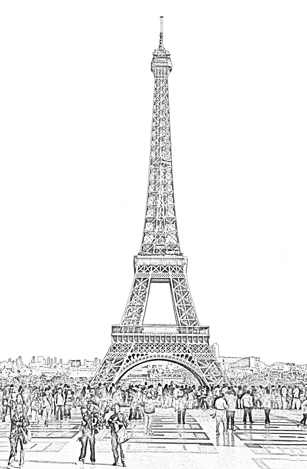 Effle Tower Coloring Book Page