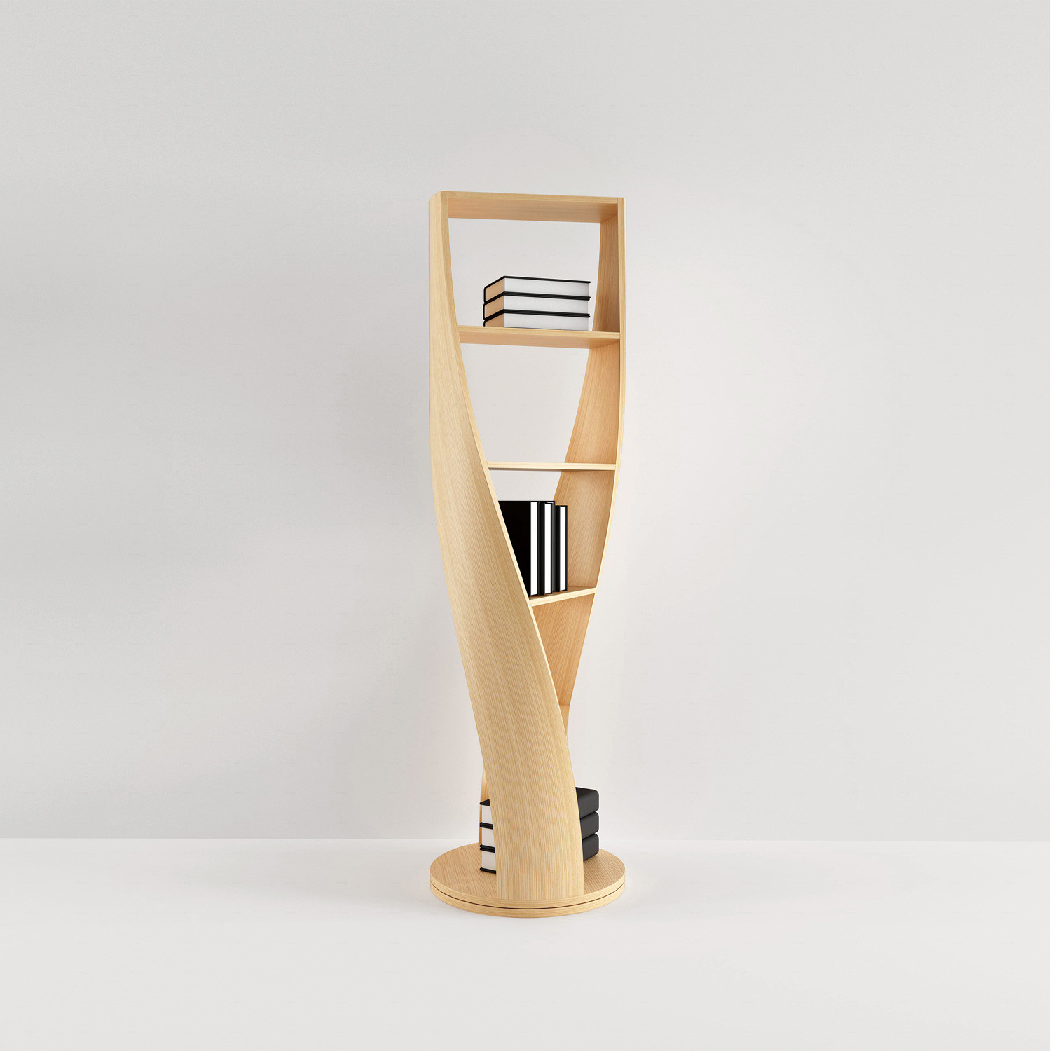 Mydna Bookcase Wood by Joel Escalona