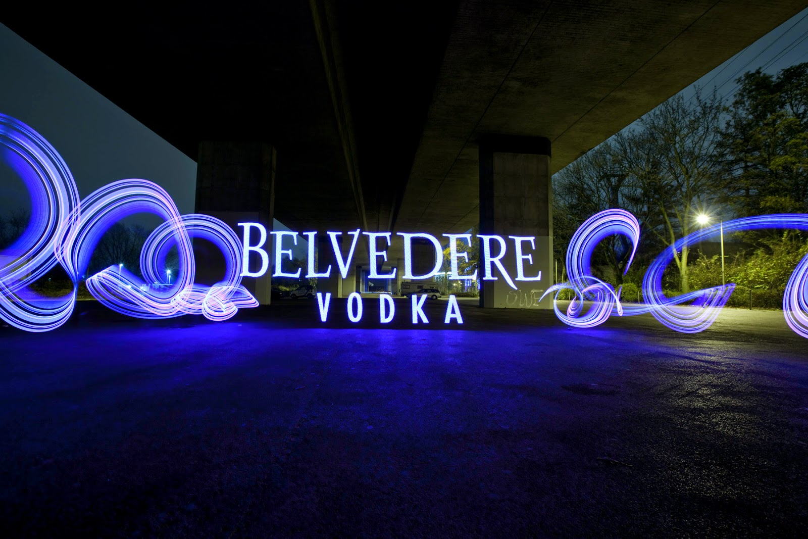Lichtfaktor, light painting, Belvedere Vodka, Shine