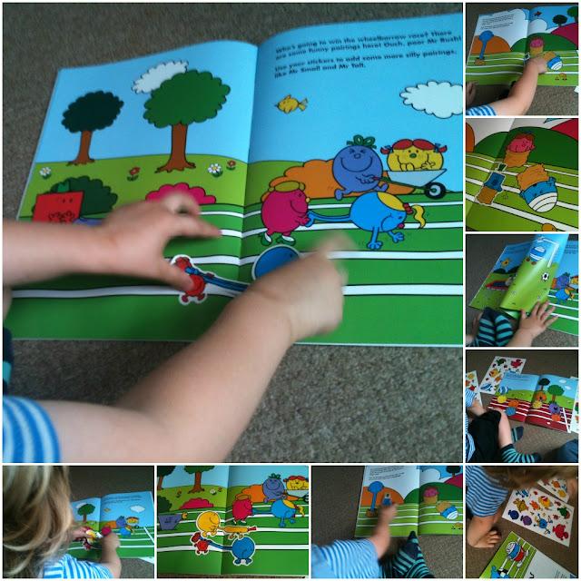 Mr. Men Sports Day and Mr. Men Sports Day Sticker Scene book