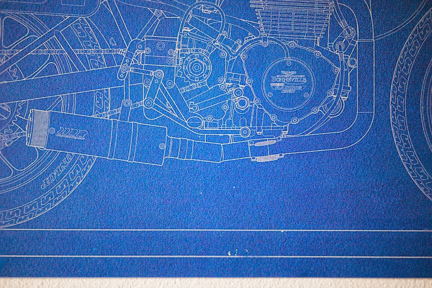 Sideblog bonneville performance blueprint theres a new giclee blueprint in the webshop we commission these schematic drawings from mick ofield ben photographed this bike at springfield earlier malvernweather Gallery