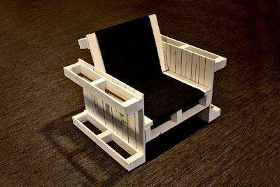 hacer sillones con palets de madera