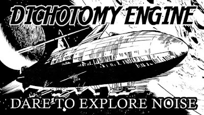 Dichotomy Engine stickers - dare to explore noise music