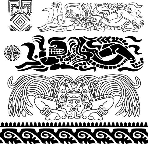 Ornamentos Mayas - cliparts