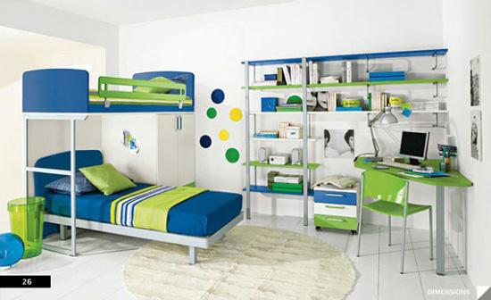 Desain Interior Kamar Anak dengan Perpustakaan untuk Hobi Membaca - Library theme Children Bedroom