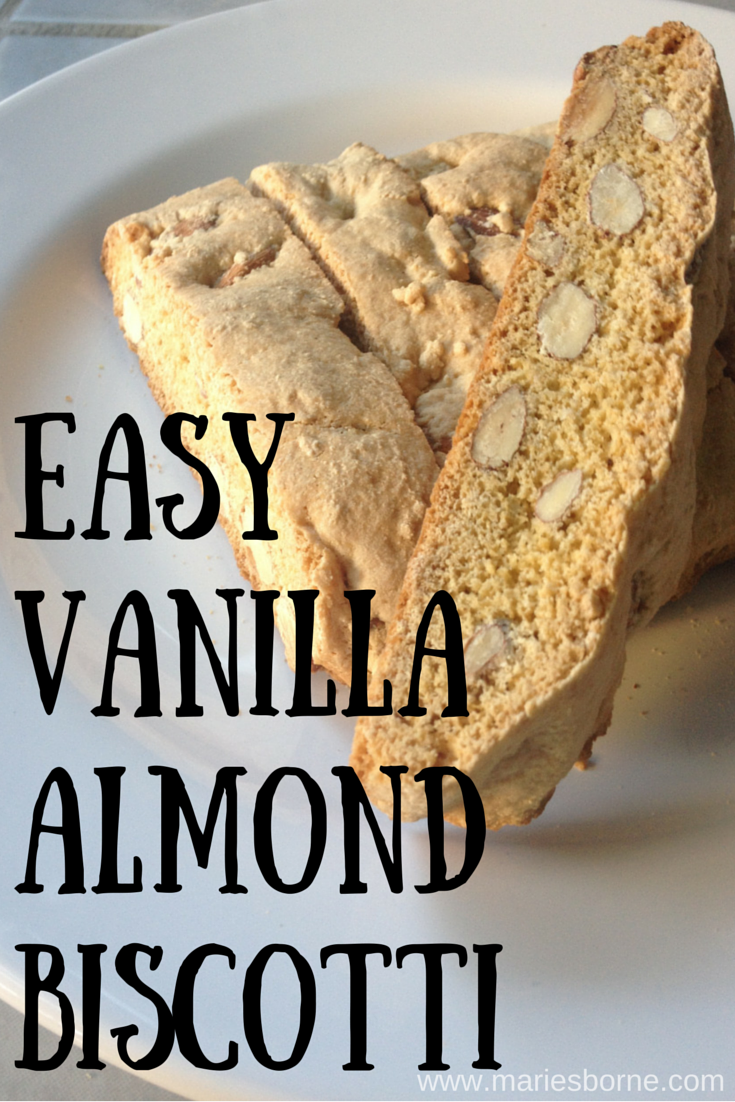 When was the last time someone made you a fresh baked treat? Not for a birthday or a specific occasion? Just because. Someone you know needs a fresh baked treat. A friend needs to know she is loved. And what says I love you better than homemade vanilla almond biscotti!