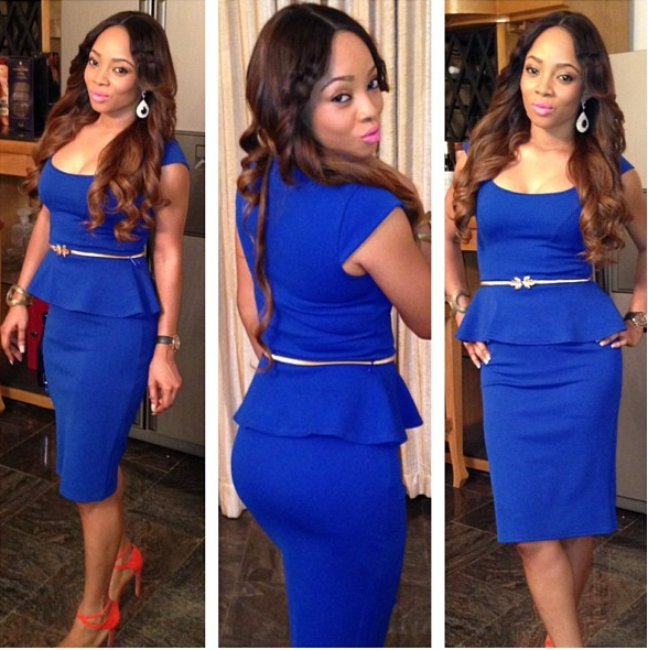 Toke Makinwa in blue