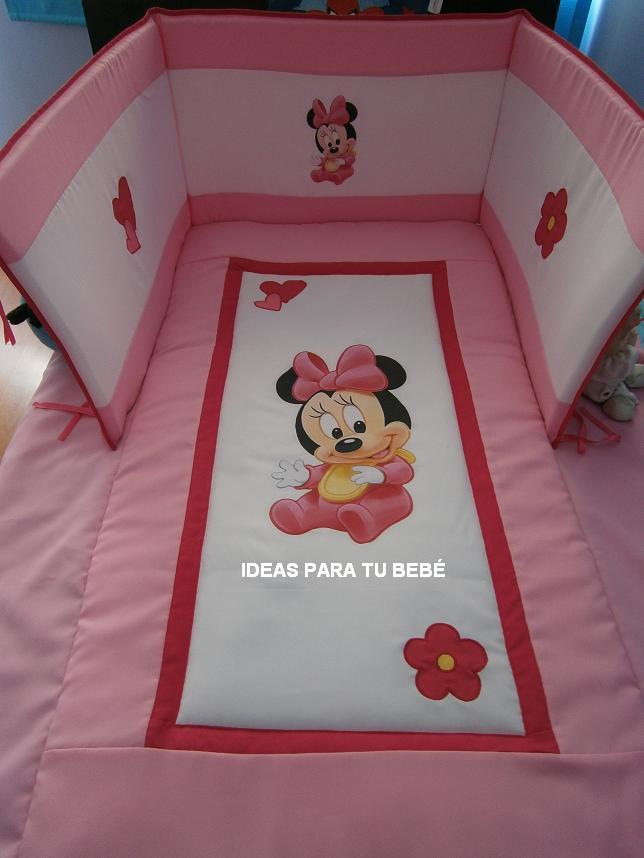 IDEAS PARA TU BEBE: Edredón de cuna Minnie bebe   Encargo Verónica