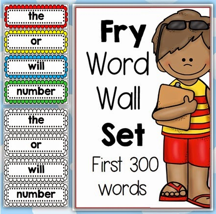 Fry Word Walls Bundled