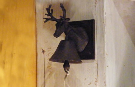 Iron Deer Buck Doorbell via Authentic Provence as seen on linenandlavender.net