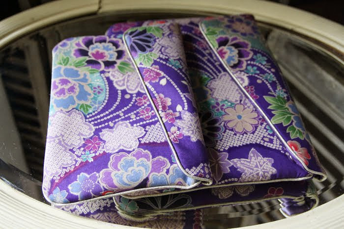 pochette ipad & ipad mini geisha bleu